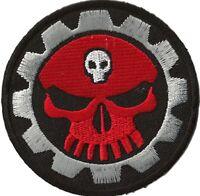 Écusson patche Mechanic Skull thermocollant patch transfert Do It Yourself brodé