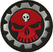 Écusson patche Mechanic Skull thermocollant patch transfert Do It Yourself brodé