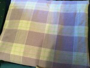 purple checked cotton fabric 46 wide by the yard