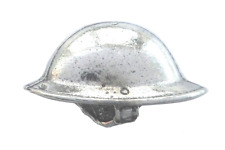 WW1 Great War Brodie 'Tommy' Helmet Hand Made Polished English Pewter Pin Badge