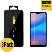 """[3-Pack] SOINEED Tempered Glass Screen Protector Saver For """" Huawei P20 Lite """""""