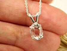 5x8 mm Genuine Jewelry Grade New York Herkimer Diamond Quartz Crystal Pendant