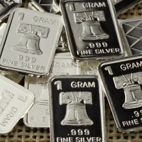 Lot 30 X 1 Gram  .999  Fine Silver Bar Bullion  / Liberty Bell      L5WPT386 oz