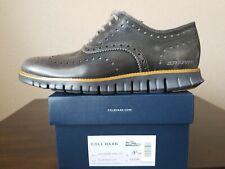 🔥NEW Cole Haan ZERØGRAND C2754 Gray Leather Wingtip Oxfords Shoes Mens Sz. 9.5