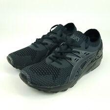 ASICS Gel-Kayano Trainer Knit Mens Sz 9 Shoes Dark Grey/Black H705N.9590