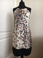 NWT Ted Baker 'Simy' Cream Butterfly Contrast Strap & Hem Dress TB 3/UK 12 £149