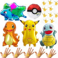 Pokemon Balloons 5 Super Size Party Decorations + 10 Bonus PIKACHU TATTOOS