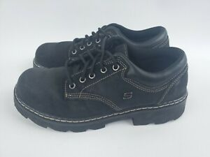 Skechers Parties Mate Oxford Chunky Shoes Womens Size 11 Leather Black 45120