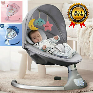 New Smart Electric Baby Cradle Crib Rocking Chair Baby Bouncer Calm Chair Free