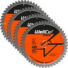 Wellcut TCT Lame Scie 216 mm x 48 T X 30 mm alésage pour GCM800, GCM8SJL Pack de 4