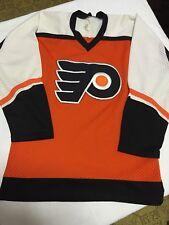 eeba10c33 New ListingVINTAGE CCM NHL PHILADELPHIA FLYERS ADULT S ORANGE WHITE BLACK STITCHED  JERSEY