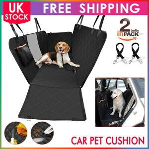 Waterproof Pet Cat Dog Car Padded Rear Back Seat Cover Hammock Mesh Viewing UK