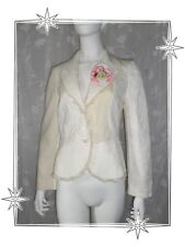 A  -  Magnifique Veste Blazer Ecru Multi Matière Christian Lacroix  Bazar T 38