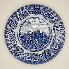Olde Country Castles Hostess Tableware Saucer Blue Willow Ironstone Transferware