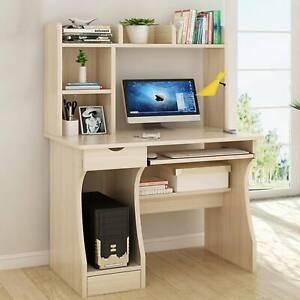 Table Bureau d'Ordinateur avec étagères Table d'écriture pour Bureau à Domicile