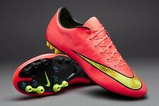 Nike Mercurial Vapor X AG Chaussures De Football UK 10.5 EUR 45.5 US 11.5 ACC Rouge Jaune