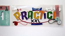 Practice Title Sports Stopwatch Whistle Jersey Basketball  Jolee's 3D Sticker