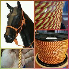Driza cabo cuerda polipropileno 8mm x 100mts amarre cabezadas caballo ganaderia