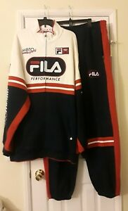 RARE Vintage 90's FILA Ducati Course Spell Out Track Suit 2XL