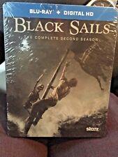 Black Sails: Complete Second Season (Blu-Ray,2015) New,Steelbook,Same Day Ship