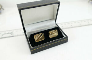 Fine Vintage 14K Solid Yellow Gold Cuff Links  Very Elegant / Classy