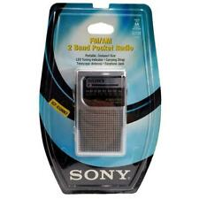 Sony ICF-S10MK2 FM/AM 2 Band Pocket Radio Portable Silver Factory Sealed Package