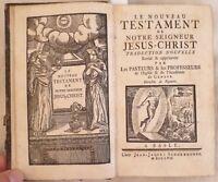 LE NOUVEAU TESTAMENT DE NOTRE SEIGNEUR VANGELO PROTESTANTE BIBBIA BIBLE 1757