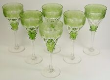 John WALSH WALSH Crystal - Set of 6 Coloured Fruiting Vine Hock Glasses - 7 3/4""