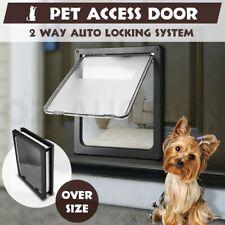 Extra Large Lockable Locking 2 Way Pet Cat Dog Safe Security Brushy Flap Door