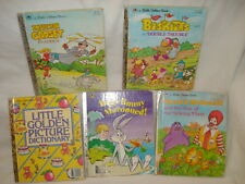 Set of 5 Vintage Little Golden Books - 1980's Hardcover -  Very Good Condition