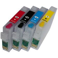 4x Non OEM Refillable Empty Printer Ink Cartridges Epson T0611 T0612 T0613 T0614