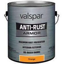 NEW GALLON VALSPAR 6393573 SAFETY ORANGE ANTI-RUST INDUSTRIAL ENAMEL OIL PAINT