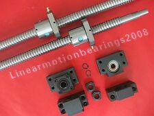 2 anti backlash ball screws RM3205-2476mm + 2 BK/BF25 bearing end supports
