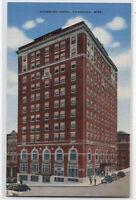 VICKSBURG HOTEL~VICKSBURG,MISSISSIPPI~LINEN  POSTCARD