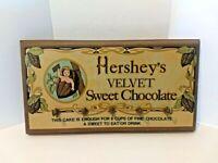 Vintage Hershey's Chocolate Wooden Sign Wall Hanging Wood Coat Hanger