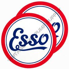 """Pair of Esso Script 12"""" Vinyl Decals (DC146)"""