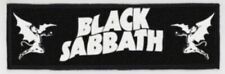 Black Sabbath Logo Large Super Strip Printed Patch B027P Ozzy Dio Rainbow