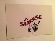 Roman Josi SIGNED 4x6 photo NASHVILLE PREDATORS / TEAM SWITZERLAND #2