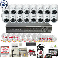 32 CH AHD DVR w/ 16 HD 4in1 CCTV Night Vision Home Security Camera System w/ 2TB