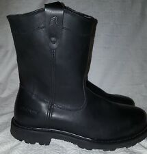 """LaCrosse Boots 11"""" Quad Comfort Halligan Steel Toe Work Boot Black Leather 14M"""