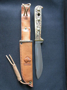 Puma 6398 Hunter's Friend Genuine Pumaster Steel Knife & Leather Sheath Germany
