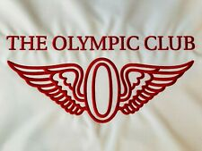 The Olympic Club Members Only White Red Embroidered Golf Flag Top 100 Augusta