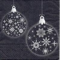 4 Servietten Motivservietten Serviettentechnik Weihnachten Schneekugel (1327)