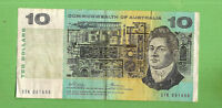 1972 TYPE PHILLIPS / WHEELER  C of A   $10 PAPER BANKNOTE STK 061668