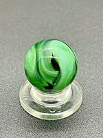 """Vintage Alley Marble Alley Agate Green Black Blue Swirl Marble 0.591"""" NM-M"""