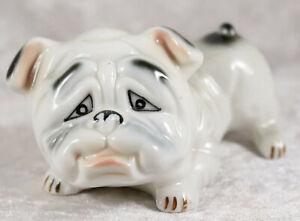 unmarked china playful British Bulldog 4.5 inches long  pedigree dog