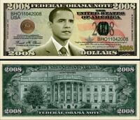 President Obama 2008 Dollar Bill Play Funny Money Novelty Note +FREE SLEEVE