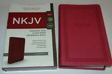 NKJV Holy Bible Giant Print Pink Leather-Soft Cover BRAND NEW in Shrink Wrap!!!