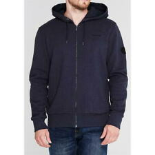 FIRETRAP Brunel Full Zip Hoodie Mens SMALL Navy Hood S182