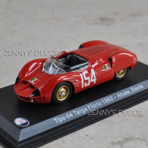 LEO 1:43 Vintage Racing Car Model Maserati Tipo 64 Targa Florio 1962 Collection